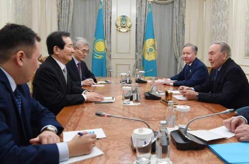 정세균 국회의장 카자흐스탄 나자르바예프 대통령과 만나