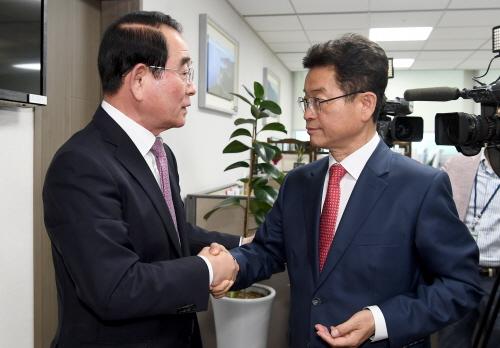 이철우 도지사 민주당 이인영, 평화당 유성엽 원내대표에 지진후속 대책 건의!