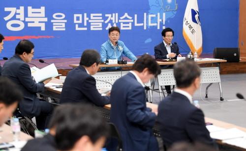 이철우 경북도지사 포항 용흥동 소재 동부청사에서 개청 후 첫